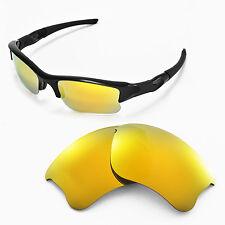 WL Polarized 24K Gold Replacement Lenses For Oakley Flak Jacket XLJ Sunglasses