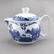 Landscape Blue Willow Teapot Tea Pot with Removeable Strainer filter 300ml