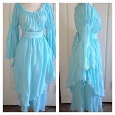 Vintage Dress Boho Hippie Gypsy Goddess Ooak Poet Sleeve