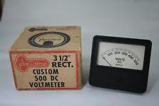 Vintage Phaostron 500 DC Voltmeter, NOS, w/hardware and box