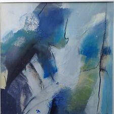 "Informel Action Painting expressiv abstraktes Ölgemälde ""Blau"" Kurt Hammer 1988"