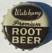 WATCHUNG ROOT BEER SODA BOTTLE CAP; PLAINFIELD, NJ.; USED CORK