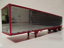 DCP 1/64 SCALE UTILITY DRY VAN TRAILER SPREAD AXLE RED/CHROME WITH SHOW FENDERS