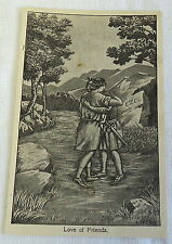 1906 print~ LOVE OF FRIENDS Ezel, Separation of David & Jonathan in the Bible