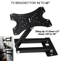 Swivel TV Wall Bracket Mount For  14 16 18 20 22 32  Inch 3D LCD LED Plasma UK
