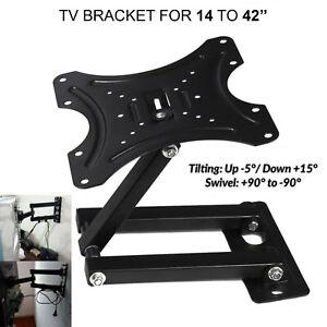 Swivel TV Wall Bracket Mount For  14 16 18 20 22 32  Inch 3D LCD LED Plasma UK