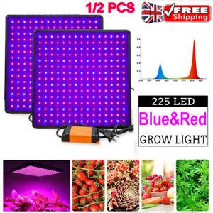 225 LED Grow Light Hydroponic Full Spectrum Indoor Veg Flower Plant Lamp Panel