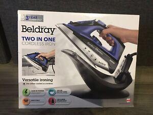 Beldray 2-in-1 Cordless 300ml Steam Iron 2600W Ceramic Soleplate - Brand New