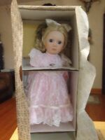 franklin heirloom porcelain doll Gibson Girl NIB