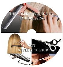 LEARN HOW TO CUT STYLE & COLOUR HAIR -THE COMPLETE GUIDE TO HAIRDRESSING: 2X DVD