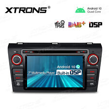 "7"" Android 10.0 Car DAB Radio DVD GPS Stereo DSP Head Unit Bluetooth for Mazda 3"
