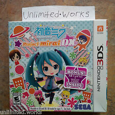 Hatsune Miku: Project Mirai DX - Launch Edition (Nintendo 3DS, 2015) New Sealed