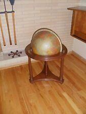 Elegant Mid century Replogle world globe on wheeled walnut stand vintage