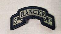 U.S. Army 3rd Ranger Battalion Regulation OCP Patch W/Fastener