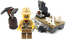 NEW LEGO PALEONTOLOGIST MINIFIG SET scientist minifigure figure dinosaur science