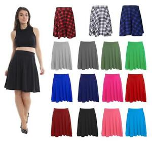 Girls Full Flared Schoolwear Long Skater Skirt Midi Skirt 8-24