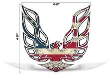"42"" X 42"" Firebird Hood Graphic Decal Sticker For Pontiac Trans Am USA FLAG"
