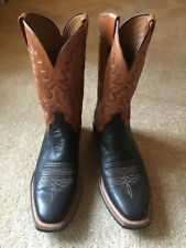 Lucchese Cowboy Boots Size 11 D. Worn twice. Black Lower with square toe.