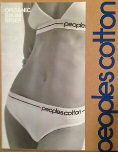 Peoples cotton by Superdry Organic Cotton Briefs Grey, White, Black knickers