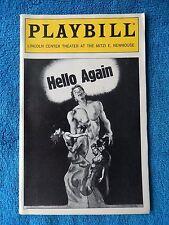 Hello Again - Mitzi E. Newhouse Theatre Playbill - January 1994 - Michele Pawk