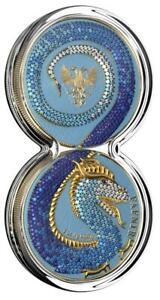 Germania 2020 2x5 Mark - Fafnir Set - Crystals Gradient - 2 x 1 Oz Silver Coins