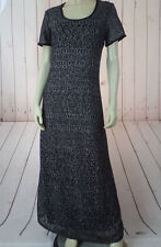 Ultra Dress NY 10 Poly Knit Pullover Lacy Metallic Overlay Full Length Maxi