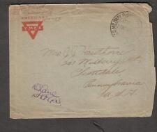 WWI AEF censor cover William Hawthorne US Air Service APO 759 to Scottsdale PA