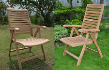 DSAS Grade-A Teak Wood Dining Reclining Folding Arm Chair Outdoor Patio