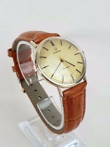 Outstanding Solid Gold Vintage Omega Geneve 131.5016 Cal.601 From 1970