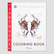 Coloring Book - Victoria Beckham - Target Alice in Wonderland FREE SHIPPING New