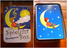 CHILDREN'S 40 ILLUSTRATED CARDS EVENING PRAYERS IN TIN MUSIC BOX GERMANY