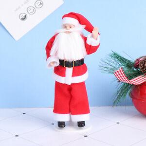 1:12 Puppenhaus Miniatur Keramik Puppe Modell Weihnachten Weihnachtsmann Pupp MD