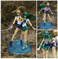 "Sailor moon Crystal SAILOR NEPTUNE & Uranus PVC figure figuarts zero 8"" nobox"