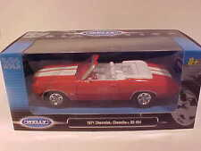 1971 Chevy Chevelle SS 454 Convertible Die-cast Car 1:24 Welly 8 inch Orange