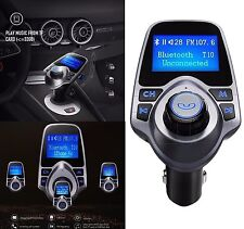Bluetooth FM Transmitter Wireless In-Car Radio Adapter LCD Digital Screen 2 USB