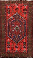 Tribal Geometric Hand-knotted Hamedan Traditional Area Rug Foyer Wool Carpet 3x5