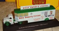 BEDFORD OX TRUCK & BOOKING TRAILER -SMART'S - GREATEST SHOW ON EARTH -1:76-BOXED