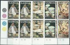 SAMOA 1985 FUNGI set plate blocks of 4 MNH.................................41443