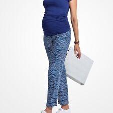Isabella Oliver Aisla Print Maternity Trousers Blue Dot Print Size 4