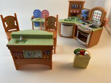 Fisher Price Loving Family Kitchen Island High Chair Stove Dishwasher 2004/ 2005