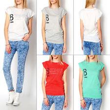 Klassische Damen-Shirts mit Rundhals-Ausschnitt aus Baumwolle