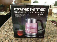 Ovente KG66S Glass Cordless Electric Kettle, 1.8 Liter, Stainless Steel