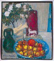 Richard Pietzsch 1872-1960: Stilleben Rosen Porzellan Öl Ausstellung publiziert