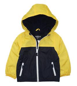 Osh Kosh B'gosh Boys Yellow & Navy Fleece Lined Jacket Size 2T 3T 4T 4 5/6 7