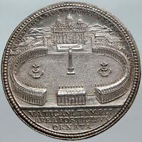 1665 VATICAN Pope Alexander VII SAINT PETER SQUARE Silver Christian Medal i88492