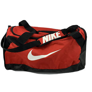 Nike Training Duffel Gym Bag Sports White Logo Red And Black 23X12X10