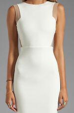 New AQ/AQ by Asos Bonnie cream mini party dress Size UK 12/L