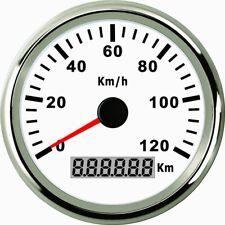 85mm GPS Speedometer Stainless Waterproof Gauge120KMH Speed for Car Truck 12/24V