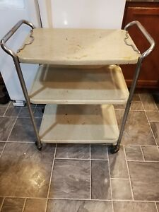 Vintage COSCO CART 3 Tier w/ Detachable Serving Tray RARE made July 8 1954