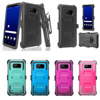Samsung Galaxy Note 8 Rugged Holster [Kickstand] Shell Combo Case Cover